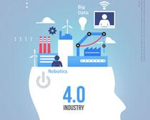 工業生產科技PSD素材