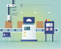 生產化機械設備PSD素材