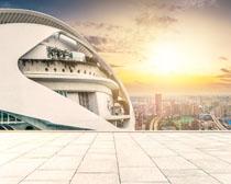 城市地標建筑景觀圖PSD素材