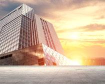 城市辦公大樓景觀圖PSD素材