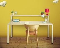 兒童寫字書房設計PSD素材