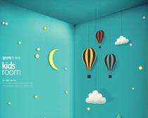 夢幻兒童房間設計PSD素材