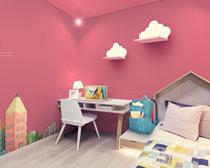 女孩室內裝修風格設計PSD素材