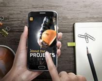 辦公數碼手機展示PSD素材