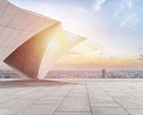 城市風光地標建筑設計PSD素材