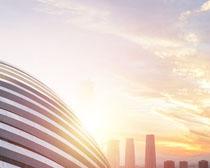 城市天空建筑物PSD素材