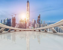 城市建筑天臺設計PSD素材
