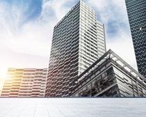 商務辦公大樓建筑設計PSD素材