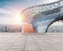 城市體育建筑物設計PSD素材