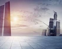城市高樓大廈建筑設計PSD素材