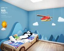 兒童房間裝修設計風格PSD素材