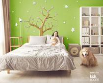 女孩臥室裝修風格設計PSD素材