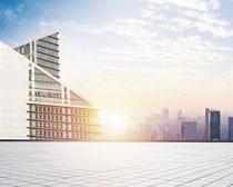 城市地產大樓建設PSD素材