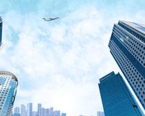 商務辦公大廈建筑景觀PSD素材