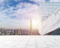 城市發展建筑地產標志物PSD素材