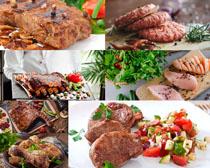 牛排羊排雞腿食物攝影高清圖片