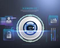 科技安全图表设计PSD素材