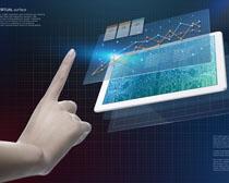 商务平板手势操作PSD素材