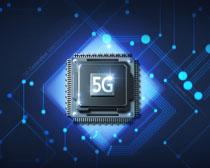 科技5G时代芯片展示PSD素材