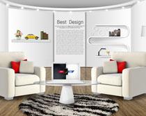 室内主播内装修风格PSD素材