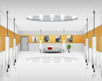 明亮展示厅风格设计PSD素材