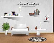 室内简约环境装修效果PSD素材