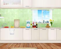 家庭厨房装修风格设计PSD素材