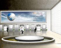 办公大楼室内环境设计PSD素材