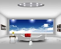明亮卧室装修风格PSD素材