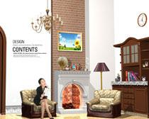 欧美家庭装修设计风PSD素材
