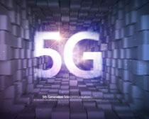 商务5G通信科技背景PSD素材