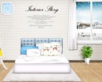 温馨卧室家居装修风格PSD素材