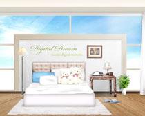 卧室环境家居布置PSD素材