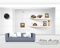 简洁室内环境装修风格设计PSD素材