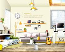 家庭室内装潢设计PSD素材