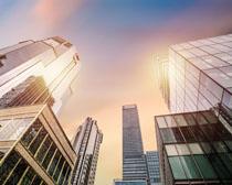 经济商业大厦建筑设计PSD素材