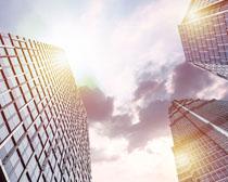 企业高楼大厦建筑景观PSD素材