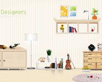 室内家居装修风格设计PSD素材