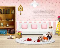 韩国室内装修风格展示PSD素材