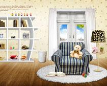 韩国室内家具装饰架风格PSD素材