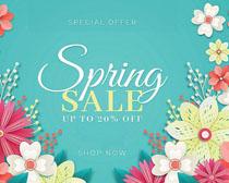 春天服装花朵宣传广告矢量素材