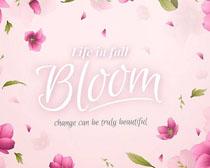 春季服装花朵宣传背景矢量素材