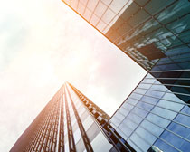 城市商务办公大楼建筑PSD素材