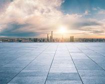 地面城市风光建筑设计PSD素材