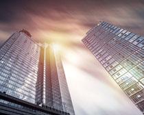 商务城市办公大厦建筑PSD素材