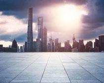 城市地产高楼大厦建筑PSD素材