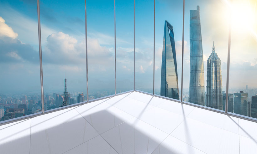 商务大厦景观展示PSD素材