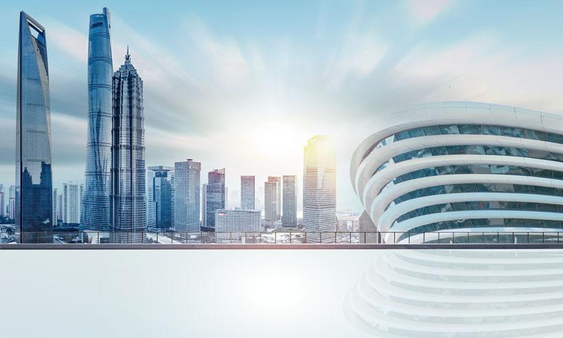 大都市城市建筑景观PSD素材