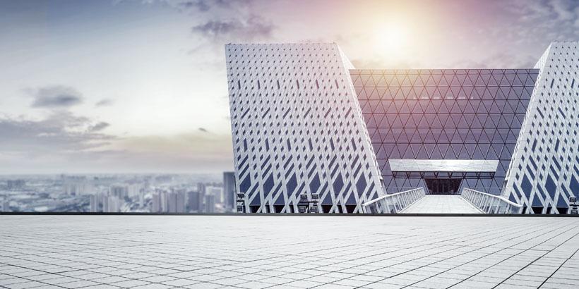 城市大型办事建筑景观PSD素材