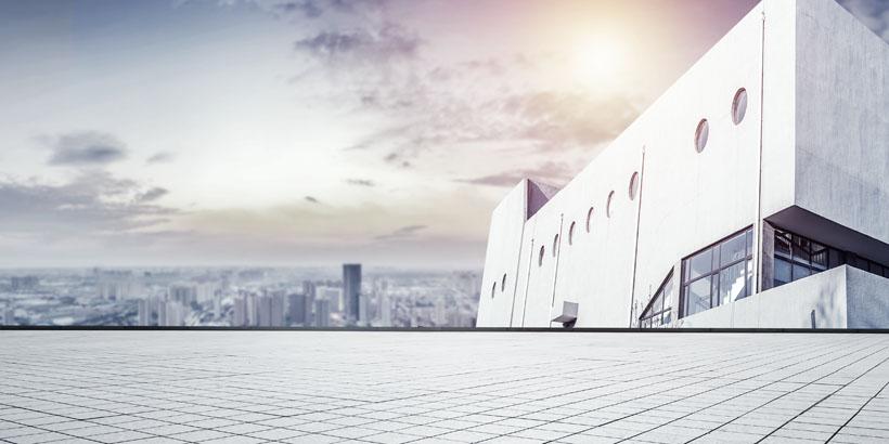 城市建筑景观图PSD素材